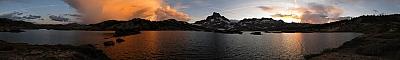 Thousand Island Lake sunset