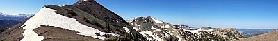 View of Airola Peak from north ridge