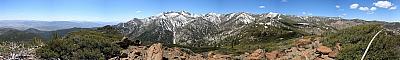 View from the summit of Alpine Walk Peak