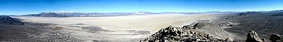 The Black Rock Desert playa from Old Razorback Mountain