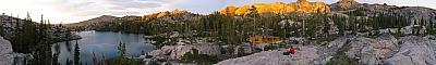 Sunset at Five Lakes Basin