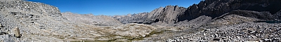 View from the John Muir Trail north of Forester Pass