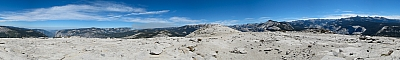 View from the summit of Half Dome