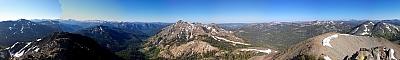 View from the summit of Hiram Peak
