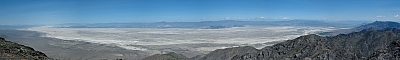 View of the Black Rock Desert from the summit of King Lear Peak