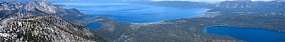 Lake Tahoe from the summit of Mt Tallac