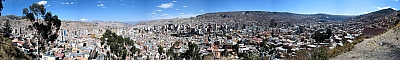 View from the scenic lookout in La Paz