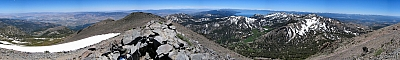 View from the summit of Mt Rose