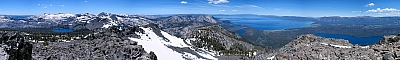 View from the summit of Mt Tallac