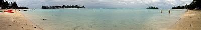 View from Muri Beach
