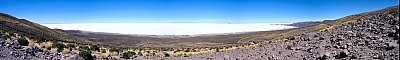 View of the Salar de Uyuni