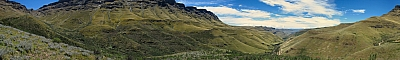 View from the road to Sani Pass