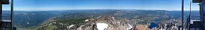 View NW from the Sierra Buttes fire lookout