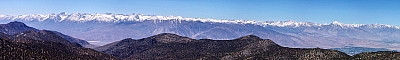 View of the Sierra Nevada from the White Mountains