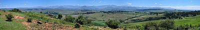 View of the Drakensberg Mountains from Underberg