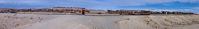 View of the Uyuni train cemetery